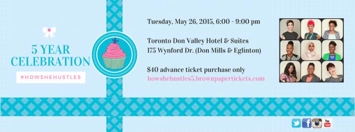 How She Hustles 5th Anniversary Celebration & Spring Social: May 26,2015